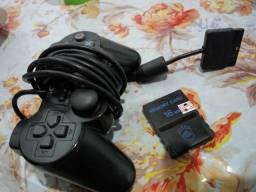 Controle play 2 e memory card