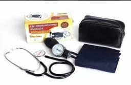 Aparelho de medir/aferir pressao arterial esfigmomanômetro e estetoscópio