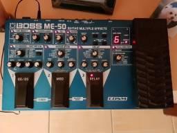 Pedaleira Boss ME-50 e Footswitch Boss fs6