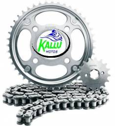 Promoção de Kit Transmissão Kit relação Motos Fan 125/ Titan 125/ Fan 150/ Titan 150/ Biz