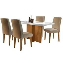 Mesa de jantar Velly com 4 cadeiras chame *