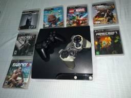 PS3 - Playstation 3 com 7 jogos originais
