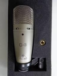 Microfone Condensador Behringer C-3 Duplo Diafragma