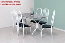 Nova Mesa de 06 cadeiras modelo Prisma = pronta entrega!