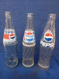 Garrafas antigas Pepsi cola