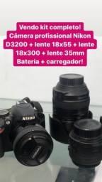 Vendo kit com câmera profissional completo