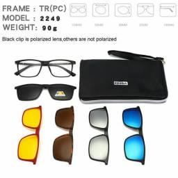 Armação de óculos Clip On 6 Lentes