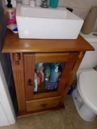 Armário banheiro madeira