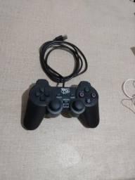 Controle Joystick com cabo Pc/Ps3