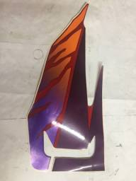 Adesivo tampa Lateral Direito NX350 Sahara Vermelha 96