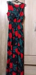 Vendo esse vestido longo tamanho m g  somente venda somente venda não faço entrega
