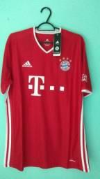 Camisa do Bayern Vermelha Masculina 2020/21
