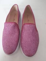 Sapatênis rosa com gliter