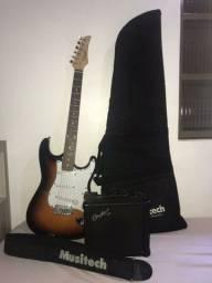 Guitarra Strato RX-10 Condor + Cubo gx-10 Condor + Capa e bandoleira