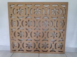 Painel MDF Flores Cru
