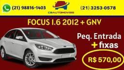 Parcelas de r$570,00 fixas no focus 2012 completo com gás!
