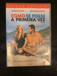 """DVD Filme """"Como se fosse a primeira vez"""" Adam Sandler e Drew Barrimore"""