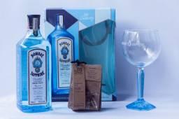 Gin Bombay Saphphire com Taça Vidro + Especiarias