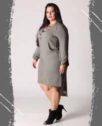 Lindo Vestido chemise Plus Size.