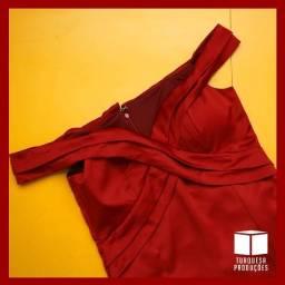 Vestido de festa longo cor: marsala (G) Maravilhosoo