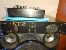 Mesa de som caixas  potencia amplificador