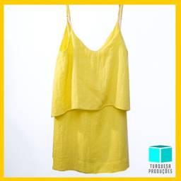 Vestido curto DRESS TO amarelo
