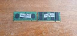 2 Memórias HP ddr2 para notebook