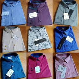 Camisa social manga longa e curta