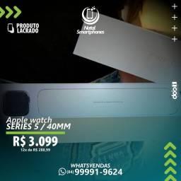 APPLE WATCH SERIE 5 - PRETO (COM GPS+1 ANO) GARANTIA - VERSÃO COM 40MM