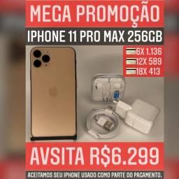 iPhone 11 Pro max 256gb, aceitamos seu iPhone usado como parte do pagamento.
