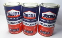 kit 3 colas adesivos de contato 400g/476ml Tradicional S/ Toluol Cascola