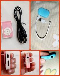 Mini Mp3 Player Azul- Entrada MicroUsb Suporta Sd até 32Gb/ Mp3 Pink até 8Gb R$25 Cada