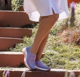 Tênis Slip On Feminino Modare feito para quem tem joanete