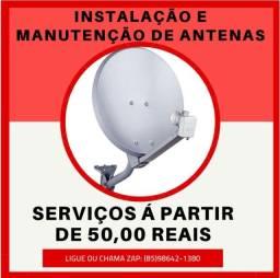 Antenas-Instalação de antenas em todos os bairros