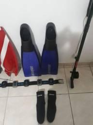 Kit para pesca sub, preço do conjunto completo, e valor separado na descrição