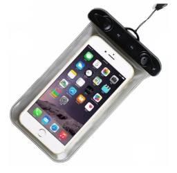 Capa celular case impermeável proteção chuva
