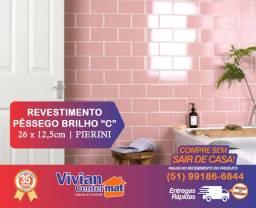 Revestimento Pêssego Brilho | Comercial | 26 x 12,5cm