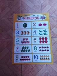 Cartaz dos números