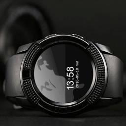 Relógio Smart Assistente Digital com Câmera V8 Conecta no Celular