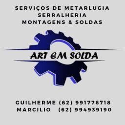 Art em solda - serviços de metalurgia, montagens e serralheria