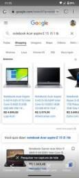 Notebook Acer ( Aceito notebook de valor inferior na troca)