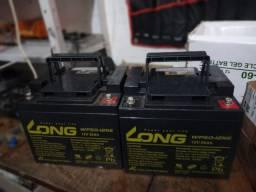 Duas bateria de chumbo ácido vlra de 50ah meia vida.