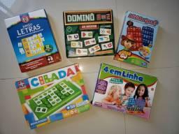 Kit com 5 jogos educativos originais de marcas