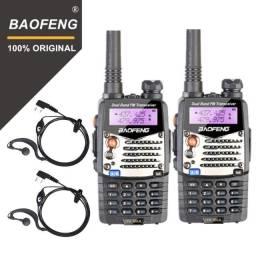 2 Rádio Ht Dual Band Uhf/vhf Baofeng Uv-5ra C/ Fone