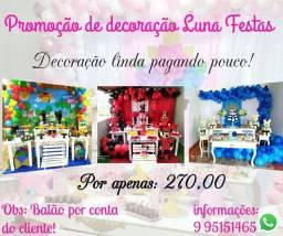 Mega promoção na Luna Festas