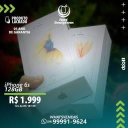 IPHONE 6S (128GB) - LACRADO, CINZA/BRANCO/ROSE OU GOLD 1 ANO GARANTIA