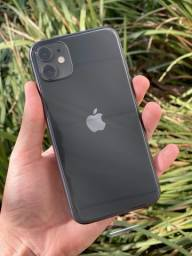 Iphone 11 na cor preta 128gb