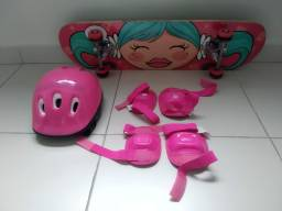 Skate infantil com proteção