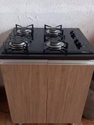 Fogão cooktop e Balcão + Btjão.
