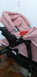 Carrinho + bebê conforto menina